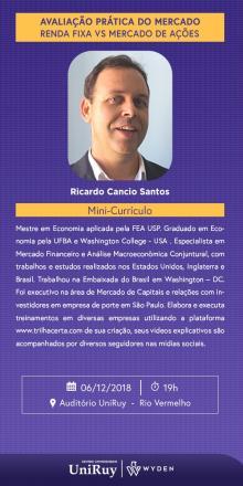 c85cb1bae O economista Ricardo Câncio ministra curso nos dias 14 e 15 de março para  tirar dúvidas de como investir da forma certa.