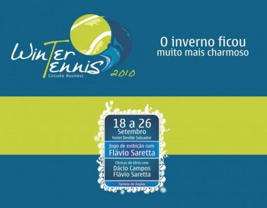 bea296840 O Winter Tennis que acontecerá no período de 18 a 26 de setembrona Bahia,  compõe o a.novo Circuito Business de eventos. Realizado pela Ápice Bahia  com apoio ...